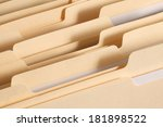 blank file folder tabs in a... | Shutterstock . vector #181898522