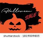 halloween holiday sale banner... | Shutterstock .eps vector #1819009805