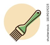 silicone cooking brush vector...