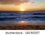 sunset on a aegean sea in greece | Shutterstock . vector #18190357