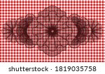 guilloche red checkered... | Shutterstock .eps vector #1819035758