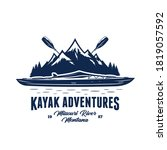 vector mountain river kayak...   Shutterstock .eps vector #1819057592