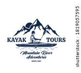 vector kayak tours logo with...   Shutterstock .eps vector #1819057595