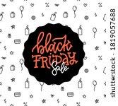 black friday slae inscription...   Shutterstock .eps vector #1819057688