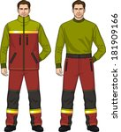 the suit for the man consists... | Shutterstock .eps vector #181909166