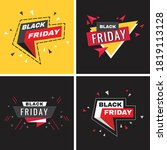 black friday sale banner vector ...   Shutterstock .eps vector #1819113128