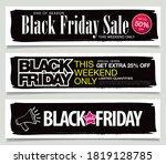 set of black friday sale...   Shutterstock .eps vector #1819128785