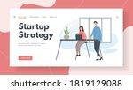 businessmen team develop...   Shutterstock .eps vector #1819129088