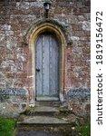 Old Wooden Church Door In Gray  ...