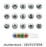 coffee shop icons    metal... | Shutterstock .eps vector #1819157858