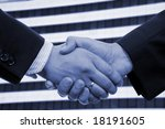 business hand shake and a... | Shutterstock . vector #18191605