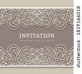 vintage frame with lace border...   Shutterstock .eps vector #1819166018
