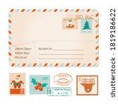christmas old vector greeting... | Shutterstock .eps vector #1819186622