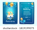 celebration of 10 th years...   Shutterstock .eps vector #1819199075