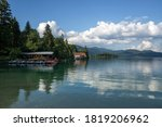 Boathouse On Walchensee Lake ...