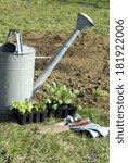 vegetable garden in springtime  ... | Shutterstock . vector #181922006