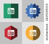 web interface flat color icon...