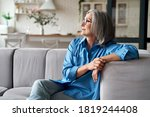 Calm Relaxed Mature Older Woman ...