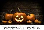 Halloween Carved Pumpkin. Jack...
