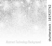 abstract gray technology glow... | Shutterstock .eps vector #181925762