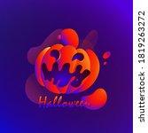 halloween pumpkin logo  autumn... | Shutterstock .eps vector #1819263272