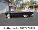 1957  black ford thunderbird...