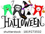 Halloween Lettering Design With ...
