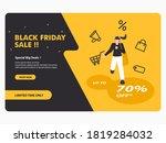 black friday concept banner... | Shutterstock .eps vector #1819284032