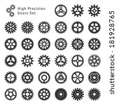 set of 33 gears made with high...   Shutterstock .eps vector #181928765