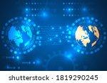 digital data circuit world... | Shutterstock .eps vector #1819290245