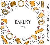 hand drawn set of bakery and... | Shutterstock .eps vector #1819321352