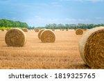 Big Round Straw Bales Of Straw...