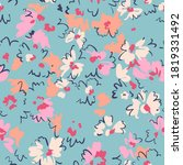 spring floral seamless pattern. ... | Shutterstock .eps vector #1819331492