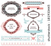 vintage collection of vector... | Shutterstock .eps vector #181933445