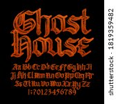 Ghost House Alphabet Font....