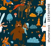 Seamless Pattern With A Hare  A ...