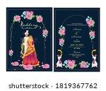 floral wedding invitation card... | Shutterstock .eps vector #1819367762