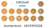 editable 14 circular icons for...