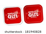 special gift stickers   Shutterstock .eps vector #181940828