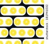 lemons slices with black modern ...   Shutterstock .eps vector #181941032