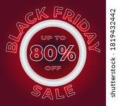 black friday sale banner... | Shutterstock .eps vector #1819432442