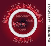 black friday sale banner... | Shutterstock .eps vector #1819434035