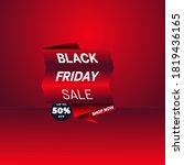 black friday sales banner in... | Shutterstock .eps vector #1819436165