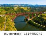 Aerial View Of Garabit Viaduct...