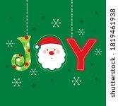 joy christmas greeting card on... | Shutterstock .eps vector #1819461938