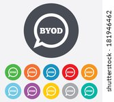 byod sign icon. bring your own... | Shutterstock .eps vector #181946462