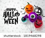 Happy Halloween Balloon Vector...