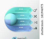 modern infographic options... | Shutterstock .eps vector #181946975