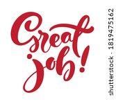 great job vector red hand drawn ... | Shutterstock .eps vector #1819475162