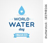 world water day | Shutterstock .eps vector #181948166